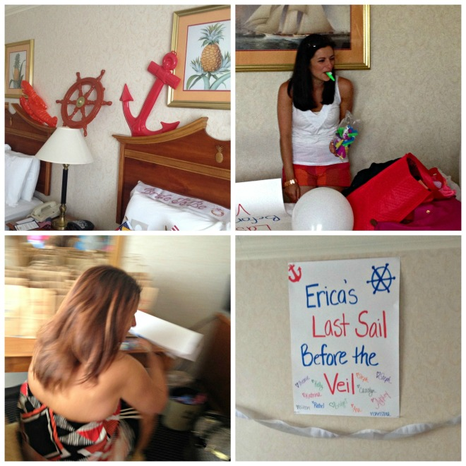 Erica's Last Sail Before the Veil: Decorating