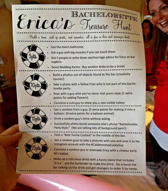 Erica's Last Sail Before the Veil: Scavenger Hunt