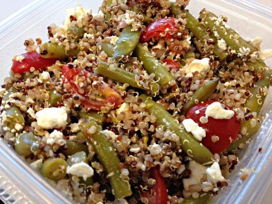 Summer 2014 CSA: Green bean and tomato quinoa salad