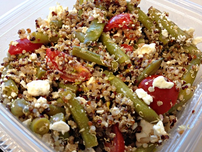 Summer 2014 CSA: Green bean and tomato quinoa salad