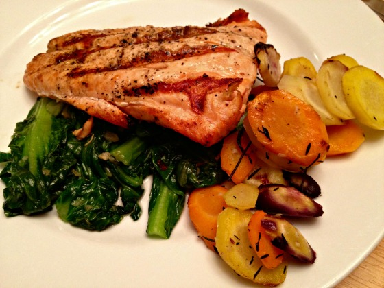 Summer 2014 CSA: Salmon with veggies on the side