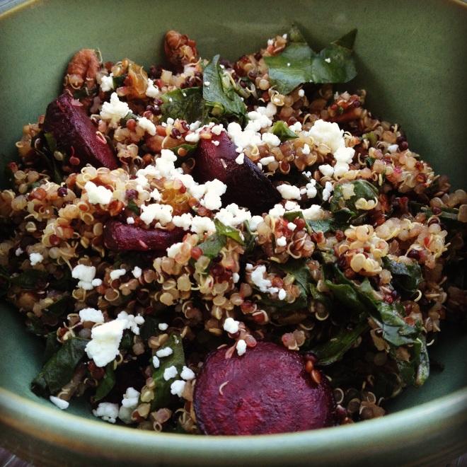 Summer 2014 CSA: Quinoa, kale, and beet salad