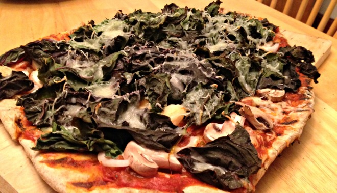 Summer 2014 CSA: Swiss Chard Pizza