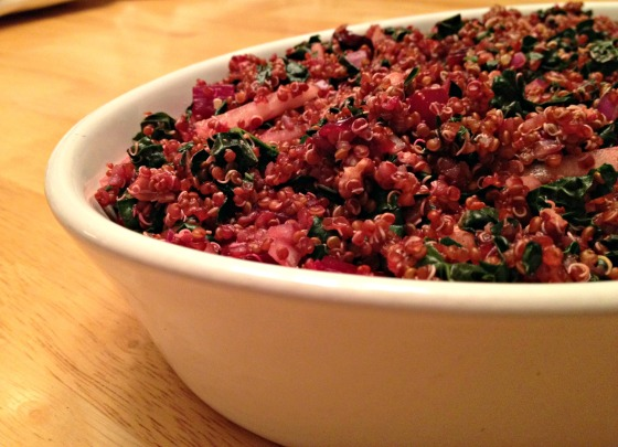 Autumn Quinoa Salad with Kale, Beets, and Pears
