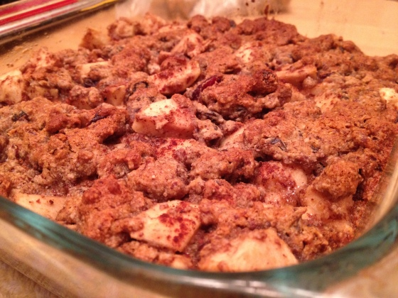 Lightened up apple crisp