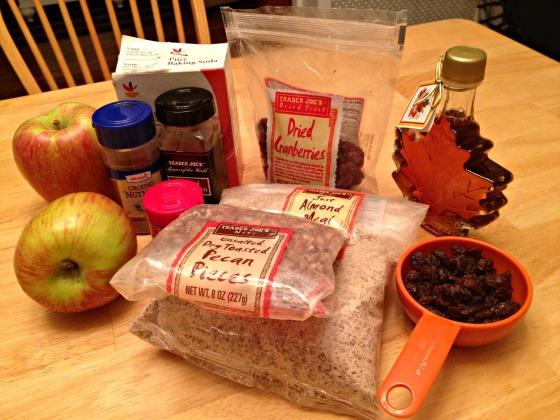 Lightened Up Apple Crisp: Ingredients