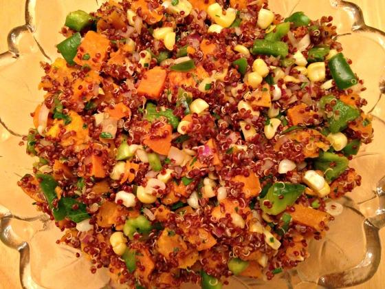 Sweet Potato Quinoa with Thai Chili Dressing