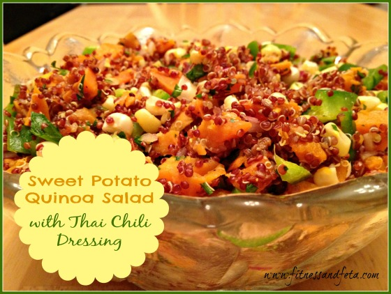 Sweet Potato Quinoa Salad with Thai Chili Dressing