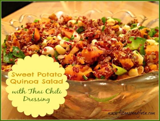 Sweet Potato Quinoa Salad with Thai Chili Dressing