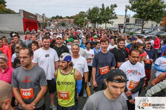 Oaktoberfest Race & Taste: Tim and Dad at start