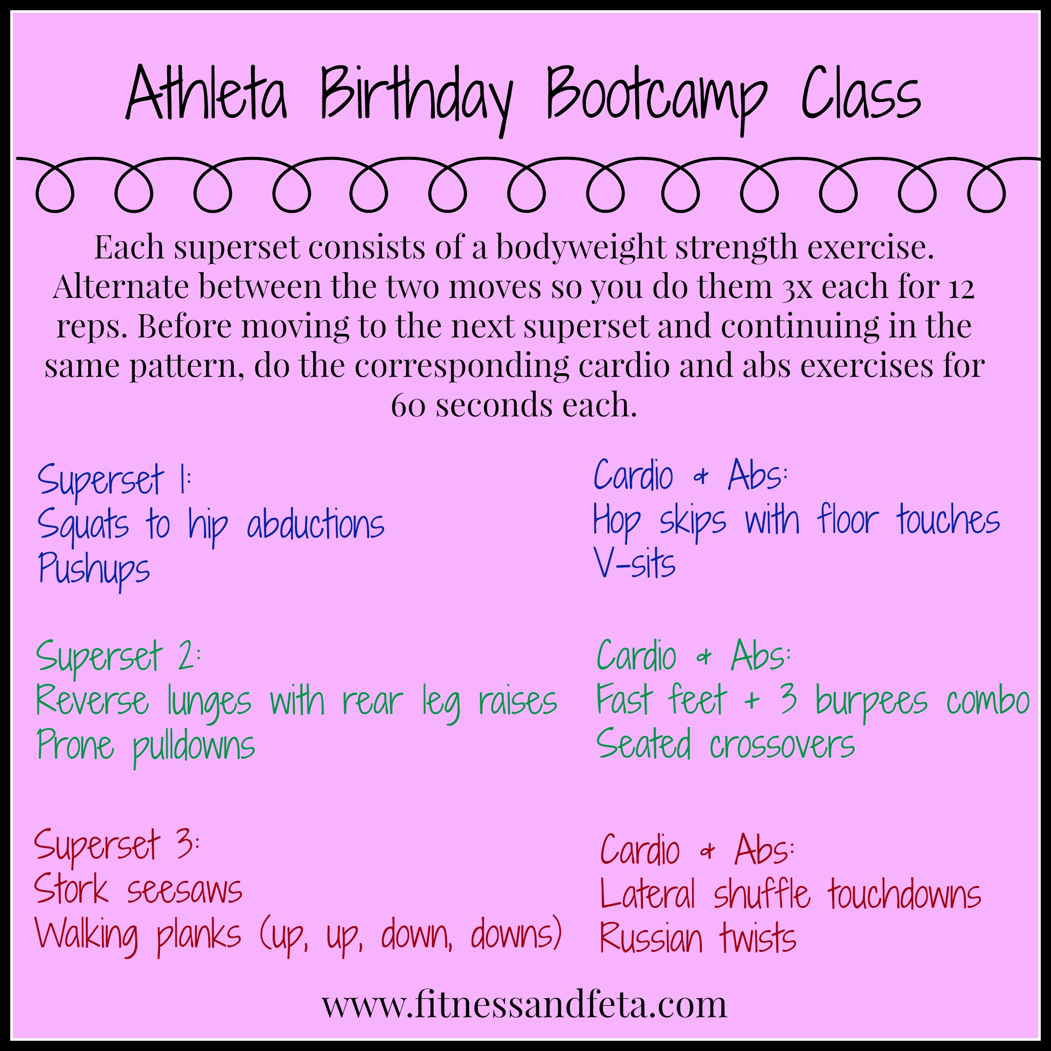 Sweat, Snack, Shop: Birthday Bootcamp at Athleta | Achieve ...