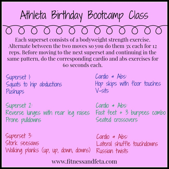 Athleta Birthday Bootcamp: Bodyweight superset workout