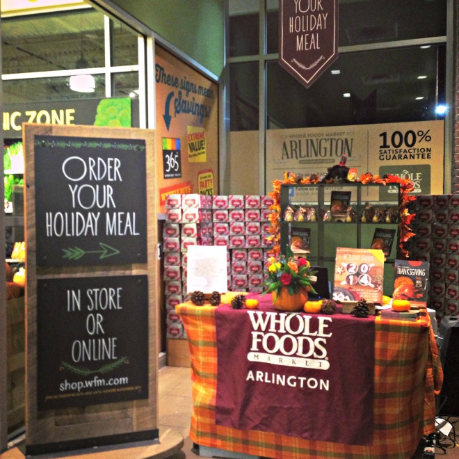 Whole Foods Holiday Menu