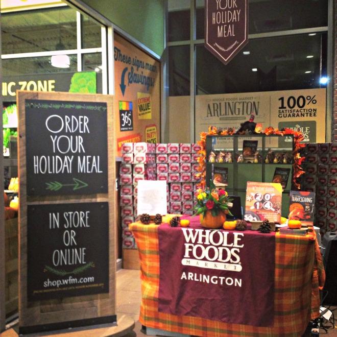 Whole Foods Holiday Menu