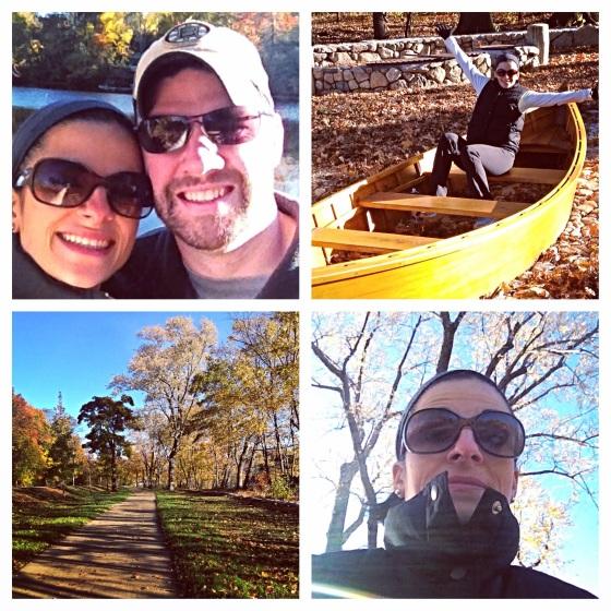 Tim and Me on a Fall Hike