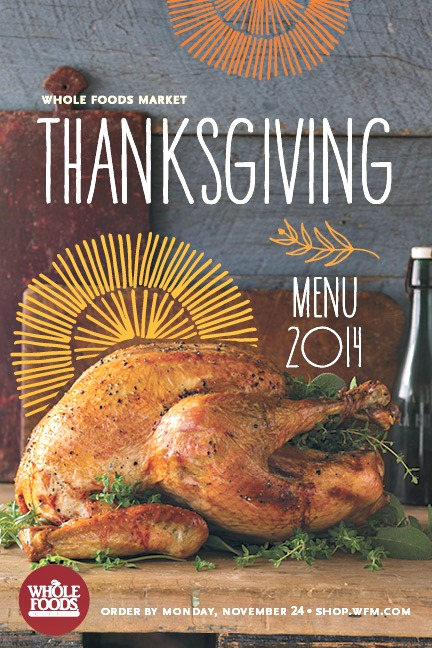 Whole Foods Thanksgiving Menu 2014