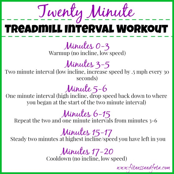 20 Minute Treadmill Interval Workout