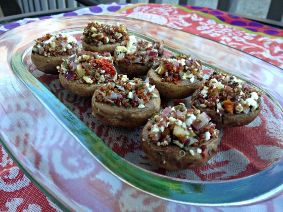 Quinoa & Feta Stuffed Mushrooms