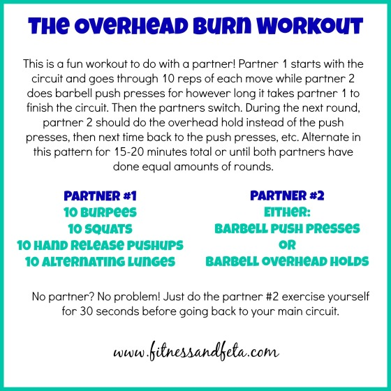 The Overhead Burn Workout