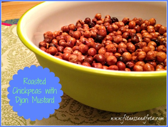 Roasted Chickpeas with Dijon Mustard