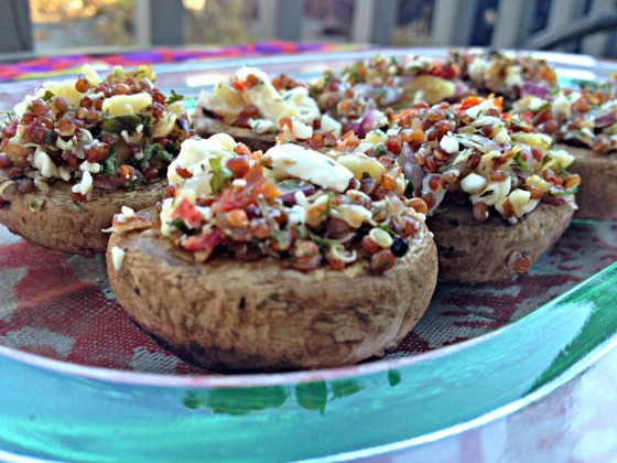 Mediterranean Stuffed Mushrooms