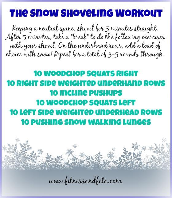 snow shoveling workout